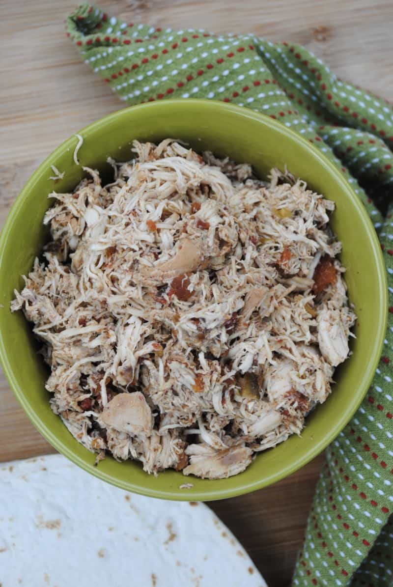 Slow cooker chicken taco meat