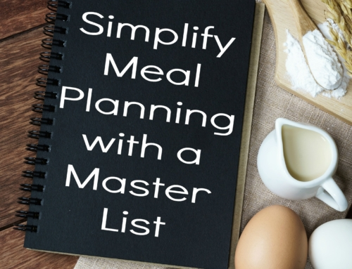 Simplify with a master meal planning list