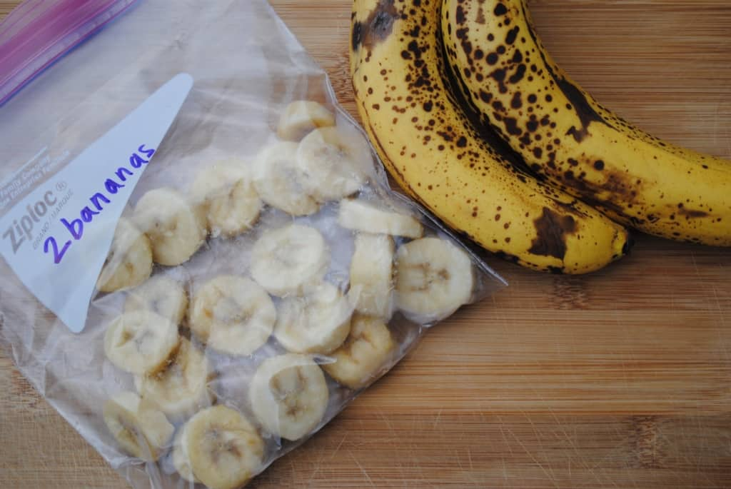 How to freeze overripe bananas