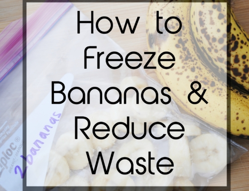 How to freeze overripe bananas and reduce waste