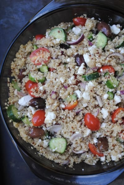 Greek quinoa salad. So fresh and light for summer.