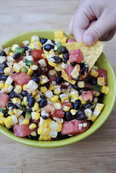 Black bean and corn salad