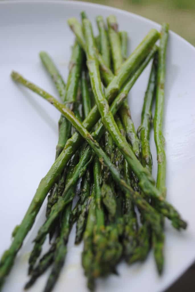 Simple roasted asparagus. A perfect easy spring side dish.