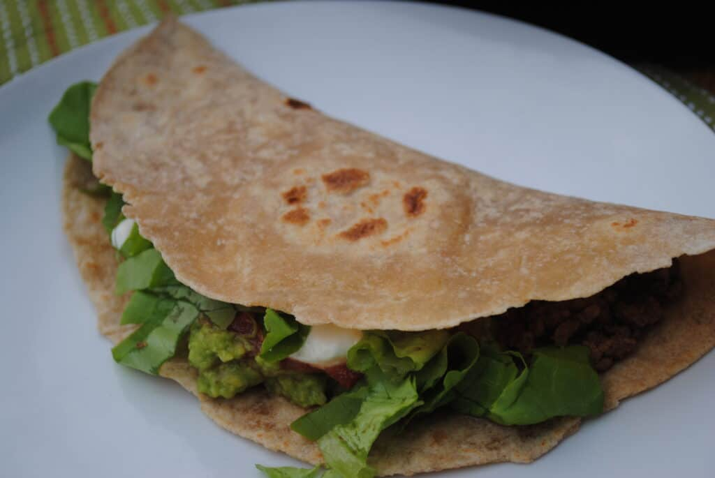 whole wheat tortilla taco