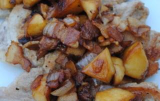 Bacon and apple pork chops
