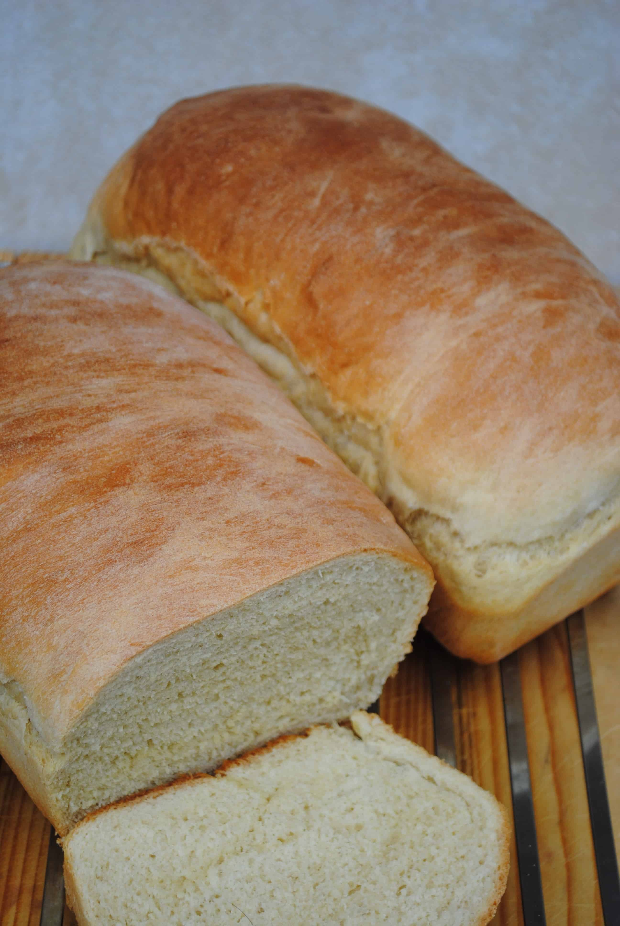 Soft white sandwich bread. Easy and delicious.