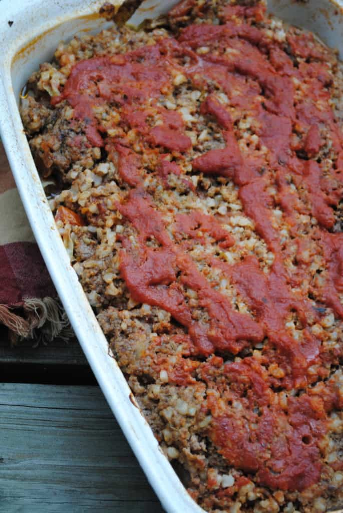 Unrolled cabbage casserole