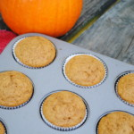 Pumpkin muffins made with fresh or canned pumpkin.