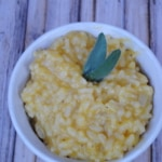 Pumpkin risotto. A delicious fall dinner.