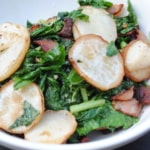 Turnips with bacon and turnip greens