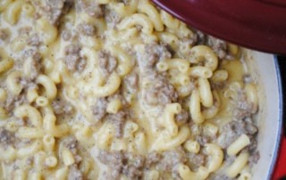 Cheeseburger macaroni. A healthy makeover on a boxed classic.