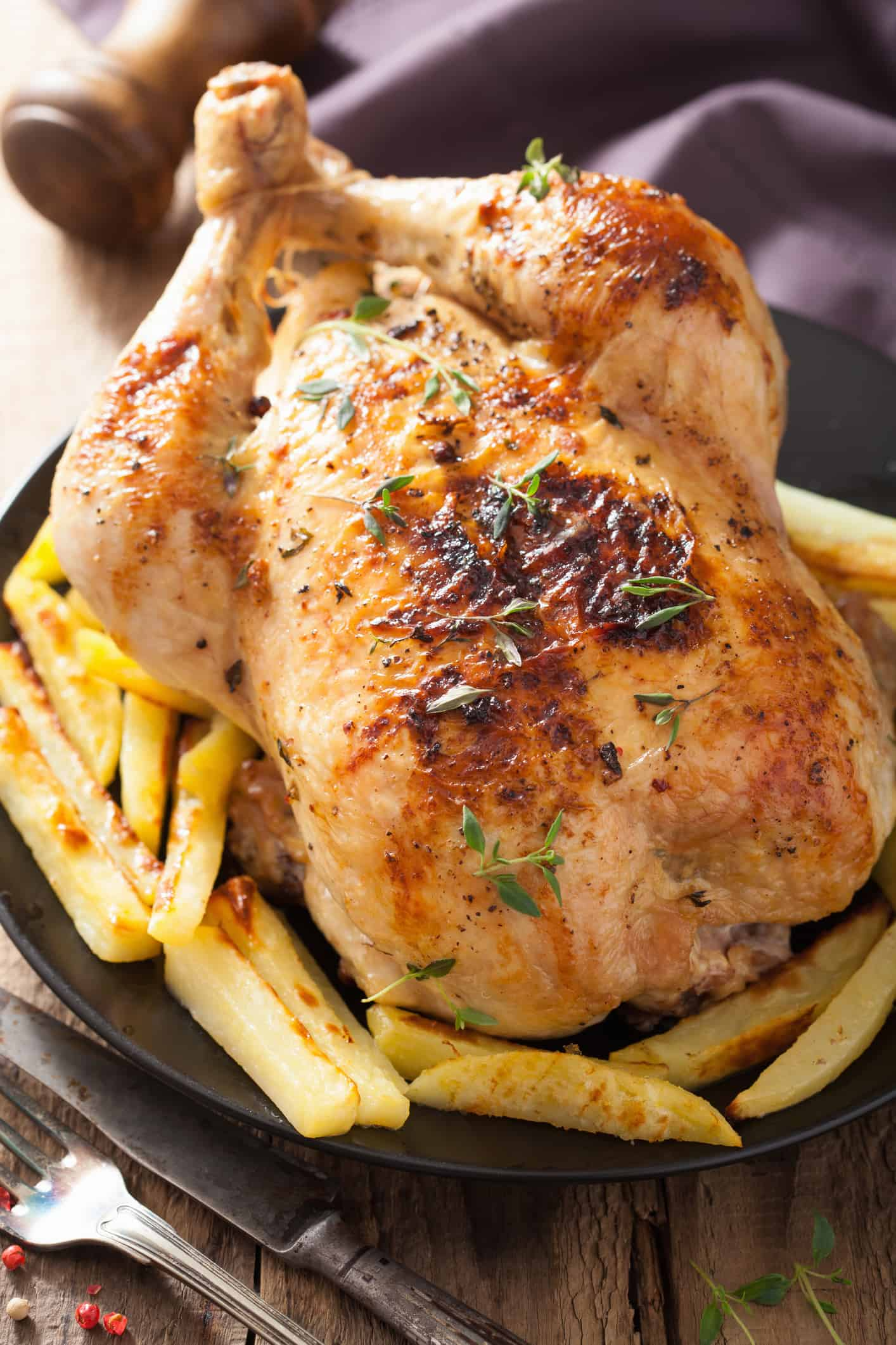 Whole roasted chicken. Simple and delicious!
