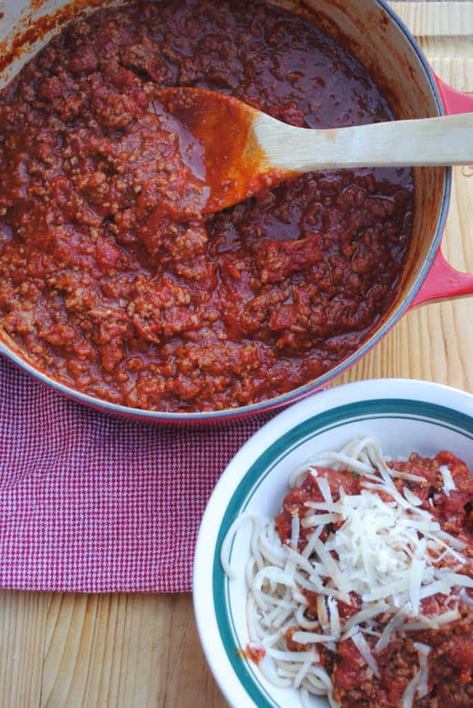 Simple homemade spaghetti sauce