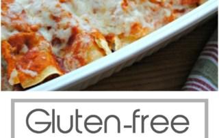 Gluten free chicken enchiladas with homemade sauce.