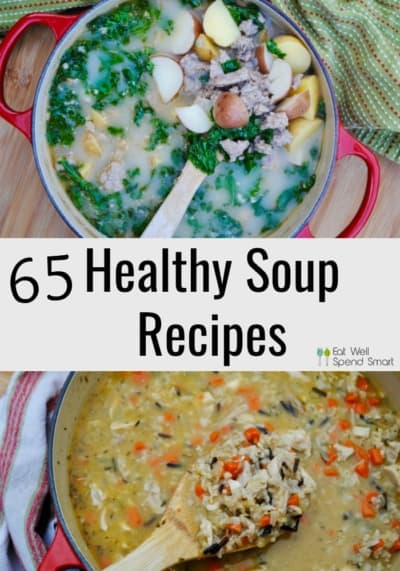 Healthy soup recipes collage