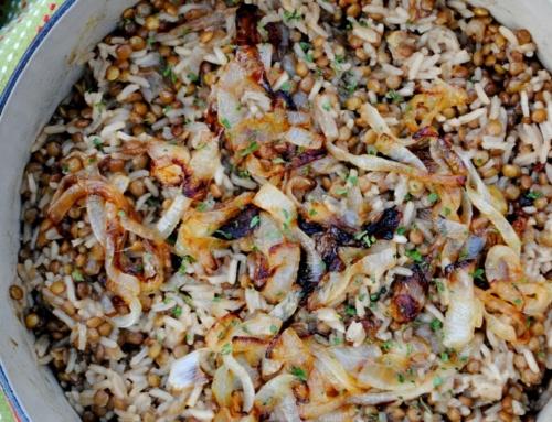 Mujaddara Lentils and Rice