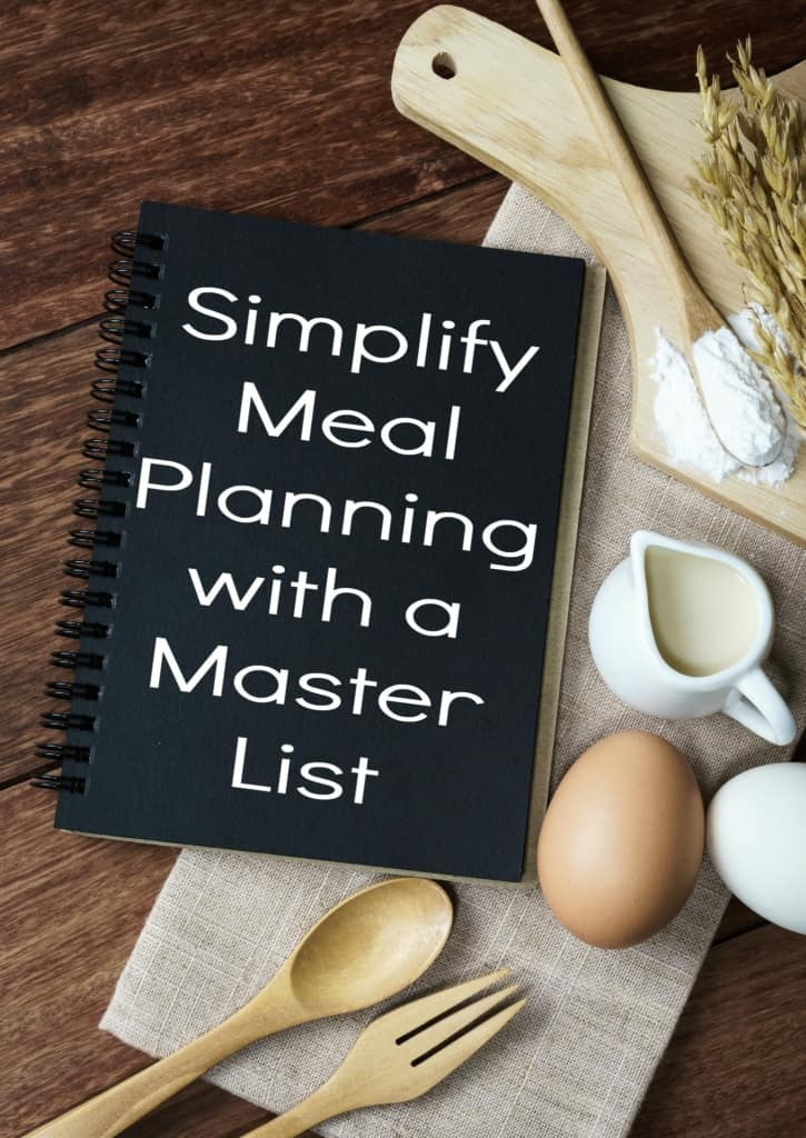 Simplify meal planning with a master list