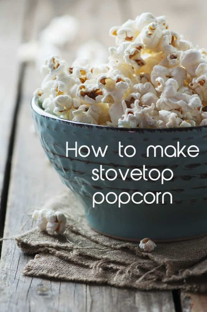 Skip the microwave and learn how to make stovetop popcorn.