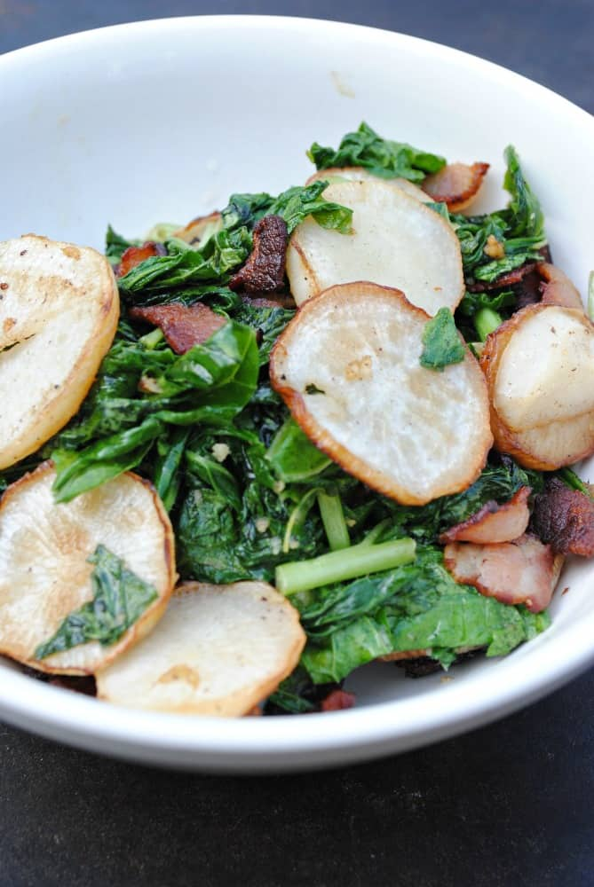 turnips with bacon
