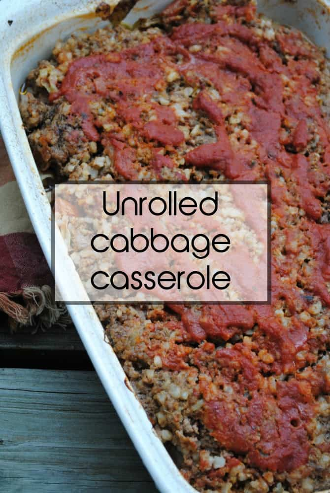 Unrolled cabbage casserole. The taste of cabbage rolls without the work.