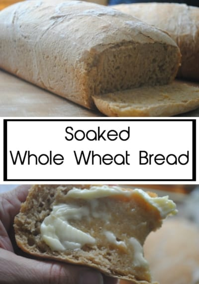 Soaked whole wheat bread. Soaking helps digest grains.