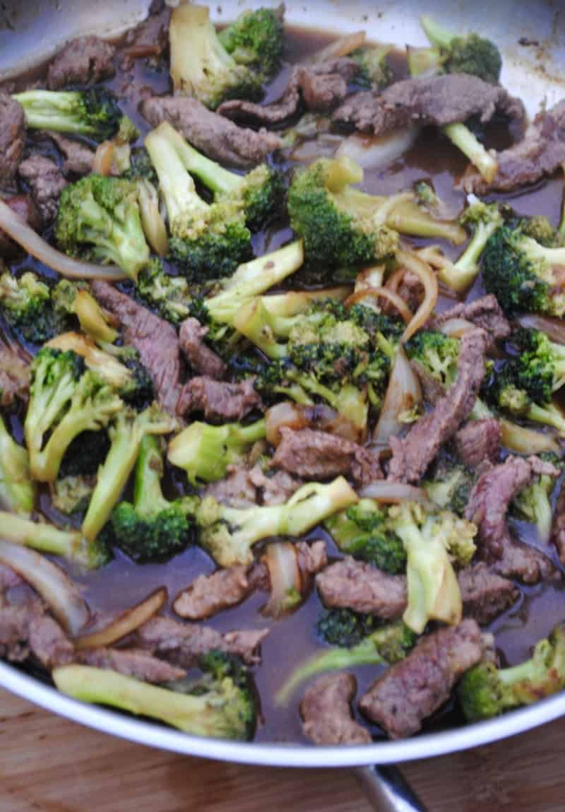Beef and broccoli. A simple weeknight stir fry.