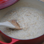 Stovetop oatmeal. A simple and inexpensive breakfast.