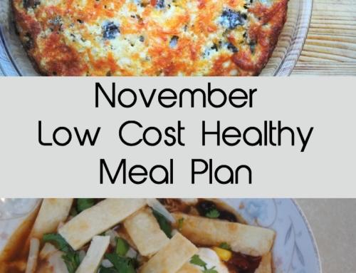 November real food frugal meal plan