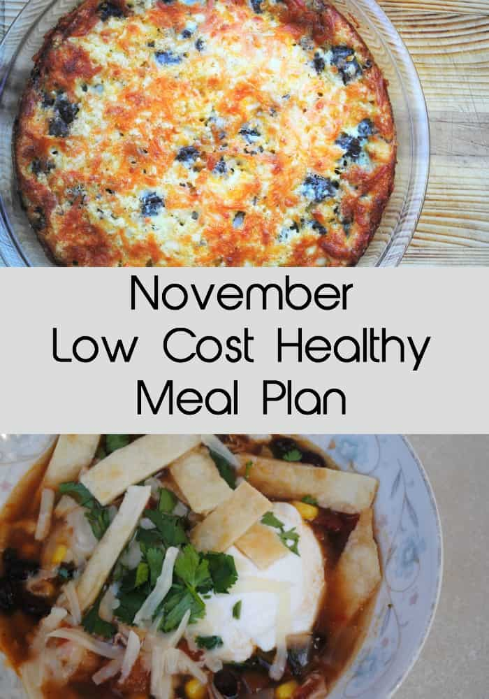 november low cost healthy meal plan