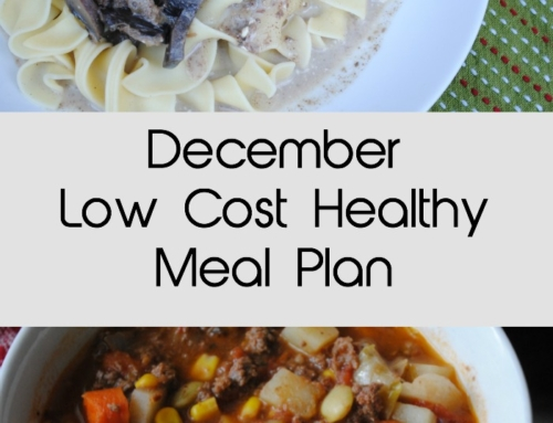 December Low Cost Healthy Meal Plan