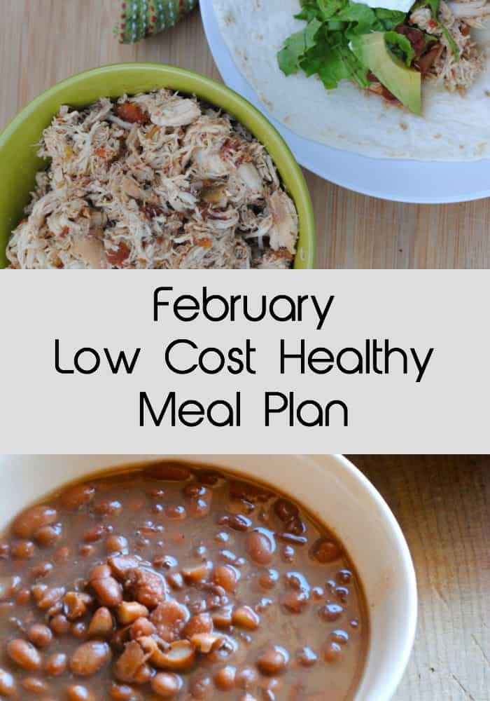 A seasonal low cost meal plan for the month of February