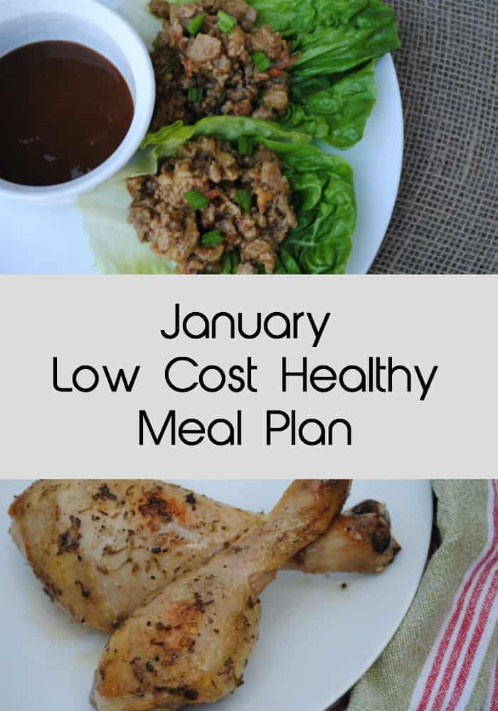 January low cost healthy meal plan