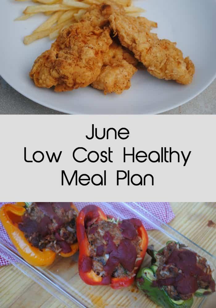 June low cost healthy meal plan