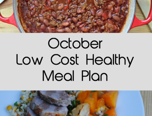 October Low Cost Healthy Meal Plan