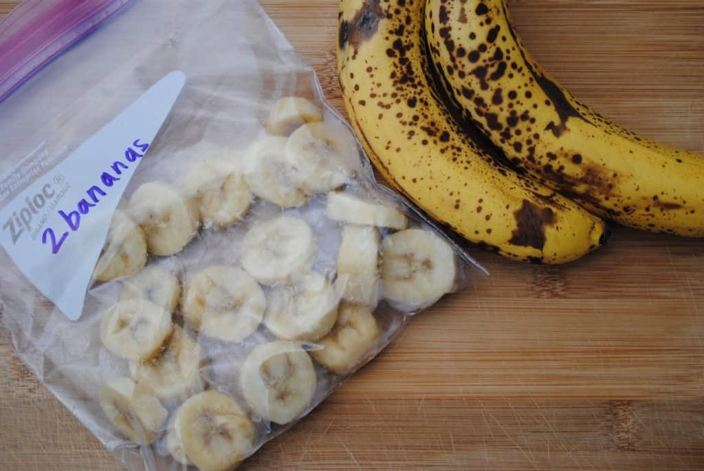 How to freeze overripe bananas