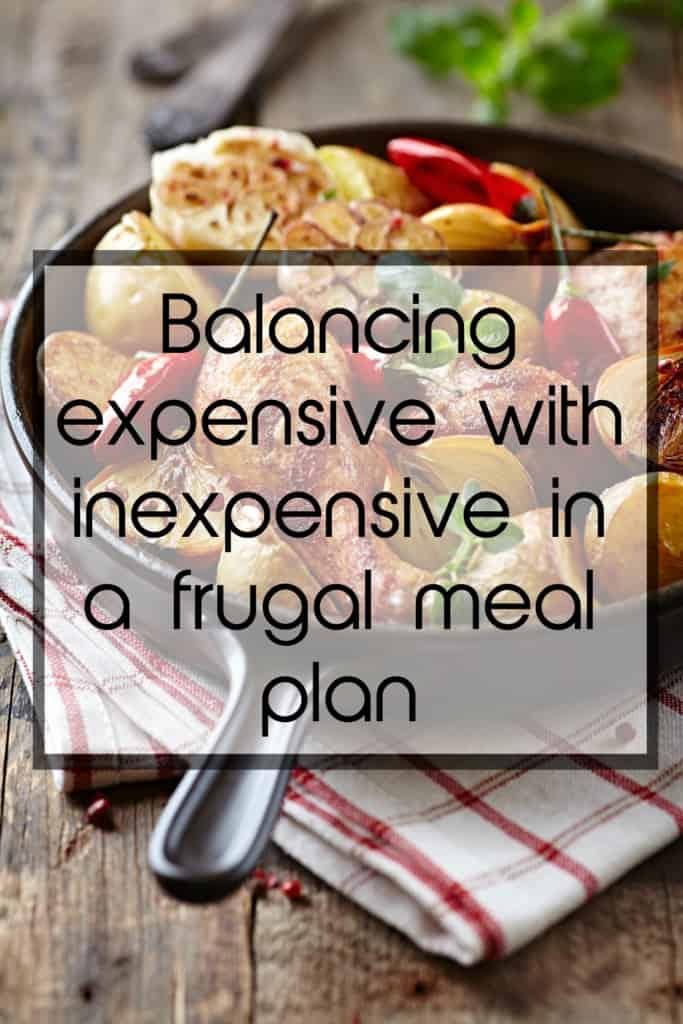 balancing expensive with inexpensive in a frugal meal plan