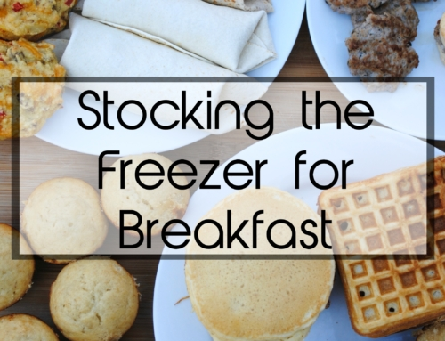 Stocking the freezer for breakfast