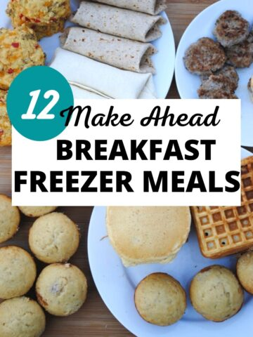 Make ahead breakfast freezer meals