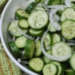 Simple cucumber and dill salad.