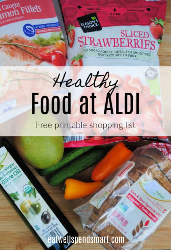 picture regarding Aldi Coupons Printable called Healthful Foods at Aldi (Printable Procuring Record) - Consume Nicely