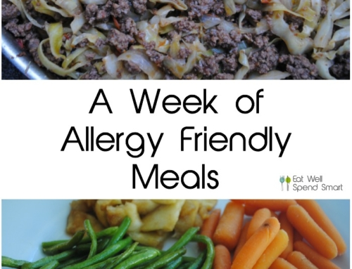 A Week of Allergy Friendly Meals