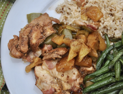 Chicken with pineapple and bacon casserole