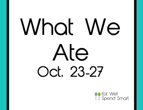 What We Ate #1