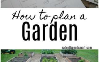 Raised garden vegetable beds and a garden sketch. How to plan a garden