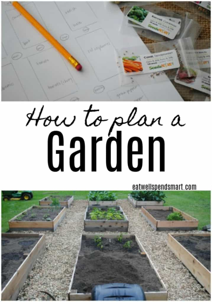 Raised garden vegetable beds and a garden sketch. How to plan a garden