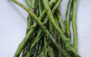 Simple oven roasted asparagus. Perfect spring side dish.