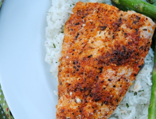 Cajun broiled salmon