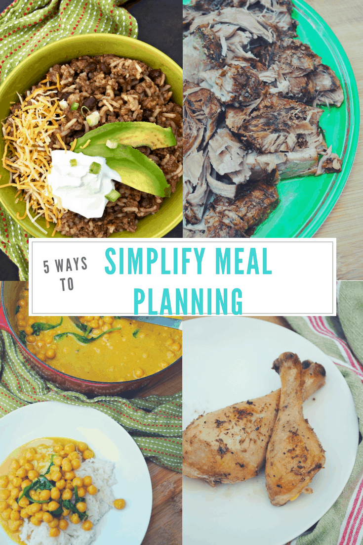 Ways to simplify meal planning