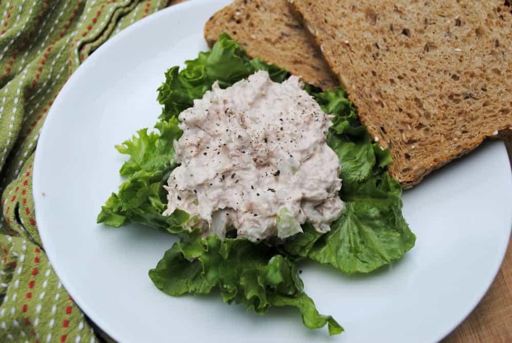 tuna salad, one of many recipes using canned tuna