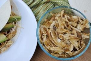 Salsa verde chicken. An easy slow cooker meal.